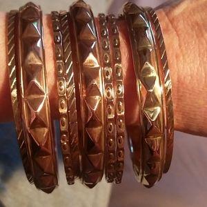 9 jingle jangle bangle bracelet stack